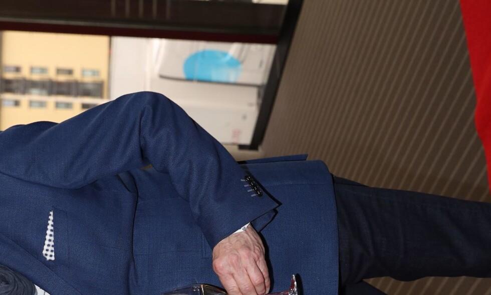 KJÆRESTER: Eyvind Hellstrøm åpner opp om kjæresten Anita Rennan til kompisen og kollega Truls Svendsen. Foto: Andreas Fadum