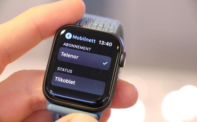 b64ebd1c ENDELIG: Nå kan også nordmenn bruke Apple Watch med mobilabonnementet sitt.  Foto: Kirsti