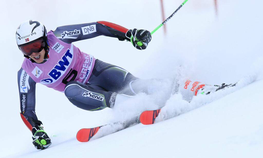 MULIG PALLPLASSERING: Henrik Kristoffersen kan bli flyttet opp til tredjeplass dersom FIS diskvalifiserer tyske Luitz etter oksygenbruk. Foto: AP Photo / Nathan Bilow