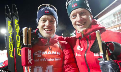 SUPERBRØDRE: Johannes Thingnes Bø og Tarjei Bø. Foto: Lise Åserud / NTB scanpix