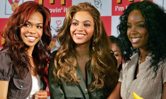 <strong>VERDENSSTJERNER:</strong> Michelle Williams (t.v), Beyoncé Knowles og Kelly Rowland erobret på 1990- og 2000-tallet verden med sin fengende pop og RnB i jentegruppa Destiny's Child. Foto: NTB Scanpix