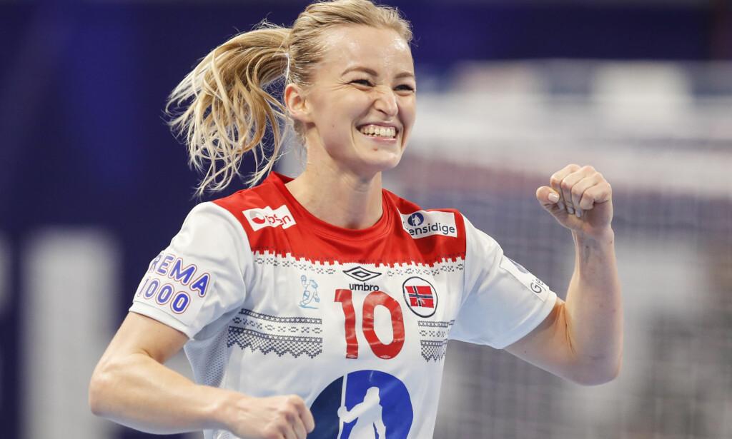 SJEF: Stine Bredal Oftedal og Norge knuste Ungarn i EM. Ungarn-trener Kim Rasmussen mener dommerne burde slått ned på for mange skritt. Foto: Vidar Ruud / NTB scanpix