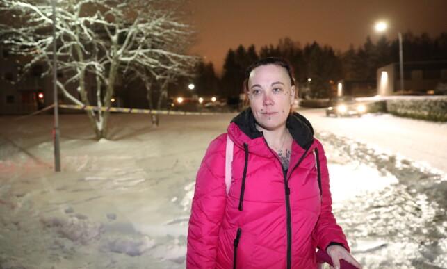 NABO: Alma Jordet bor i naboblokka til den siktede i saken der en bombe ble sendt til Ski politihus. Foto: Christian Roth Christensen / Dagbladet