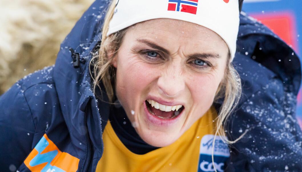 TØFT: Therese Johaug forteller at sesongstarten tok så på mentalt at hun fikk en liten mental smell før rennene på Lillehammer forrige helg. Foto: Bildbyrån