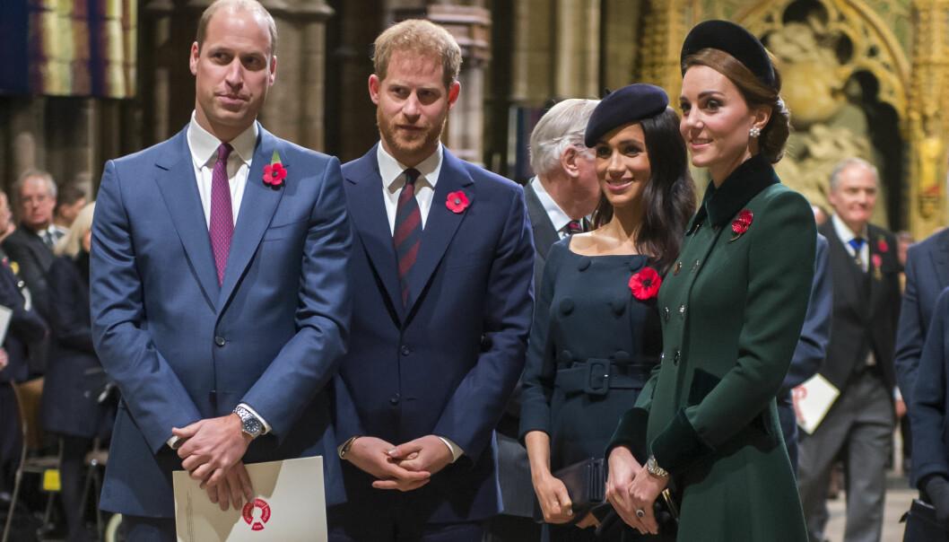 FEIDE: Flere kilder hevder at prins William og prins Harry hadde en alvorlig krangel om Meghan Markle etter at hun hadde vært på besøk for første gang. Det hevdes at forholdet dem imellom fortsatt er betent på grunn av dette. Foto: NTB scanpix