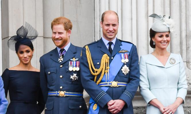KRANGEL: Kilder hevder at prins Harry og prins William kranglet om Meghan Markle. William skal ha prøvd å få Harry til å avbryte romansen. Foto: NTB scanpix