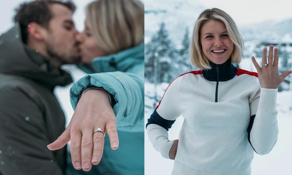 FORLOVET: Fredag forlovet Tiril Sjåstad Christiansen og Stian Lauritzen seg. Det bekrefter de lørdag kveld. Foto: Privat