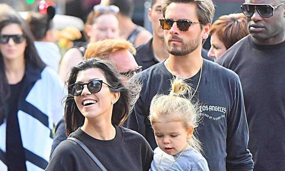 NYTT BILDE STJELER OPPMERKSOMHETEN: Tidligere denne uken la Kourtney Kardashian ut et bilde med ekskjæresten Scott Disick. Dette bildet er derimot fra en tidligere anledning. Foto: NTB Scanpix