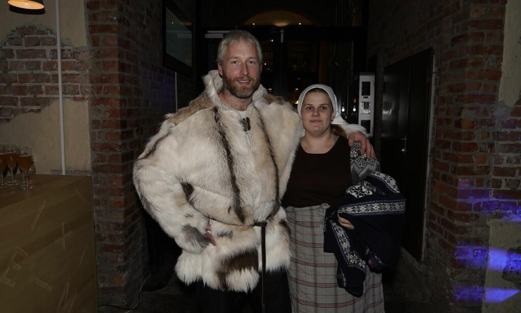 HYGGELIG: Andreas Nørstrud tok med seg kona si på festen søndag kveld. Foto: John Terje Pedersen / Dagbladet