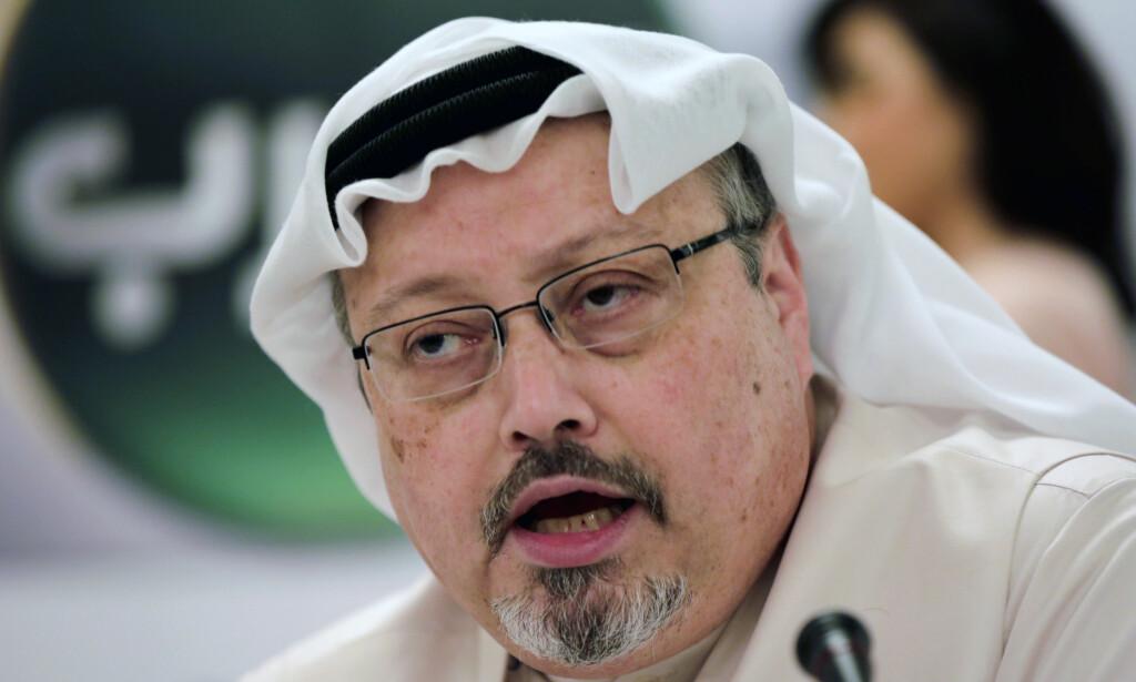 DREPT: Den saudiarabiske journalisten og regimekritikeren Jamal Khashoggi ble drept i oktober. Foto: Hasan Jamali / AP / NTB scanpix