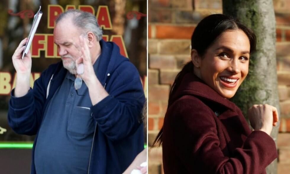 SAVNER DATTEREN: Thomas Markle har ennå ikke oppnådd kontakt med datteren Meghan siden hun i mai giftet seg inn i den britiske kongefamilien. Foto: NTB Scanpix