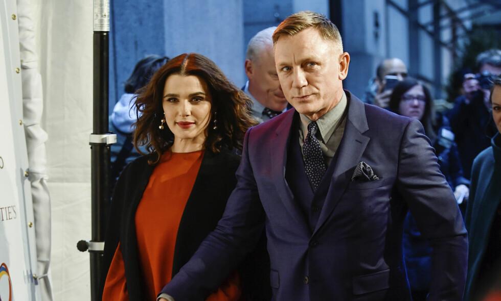 UVANLIG ÅPENHJERTIG: Rachel Weisz og Daniel Craig gir nærmest aldri personlige intervjuer. Nå åpner førstnevnte opp om familietilværelsen. Foto: NTB Scanpix