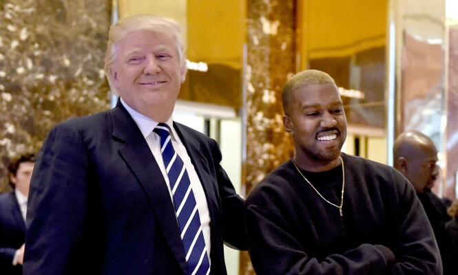 Møttes: President Donald Trump og Kanye West, her avbildet i Trump Tower. Foto: NTB Scanpix.