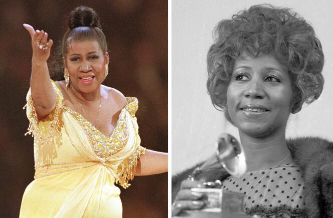 THE QUEEN OF SOUL: I en alder av 76 år gikk soul-stjernen Aretha Franklin bort. Hun døde som følge av kreft i bukspyttkjertelen. På 60-tallet gjorde hun braksuksess med låter som Respect (1968), I Say a Little Prayer (1968) og A Natural Woman (1968). FOTO: NTB Scanpix