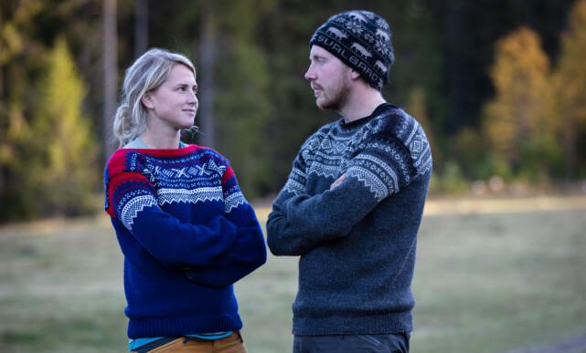 IKKE VENNER: Tonje Frøystad Garvik og Kjetil Nørstebø utviklet et godt vennskap på gården. I dag er de ikke venner. De er fortsatt totalt uenige i hva som egentlig skjedde under «Farmen»-finalen. Foto: Tore Skaar