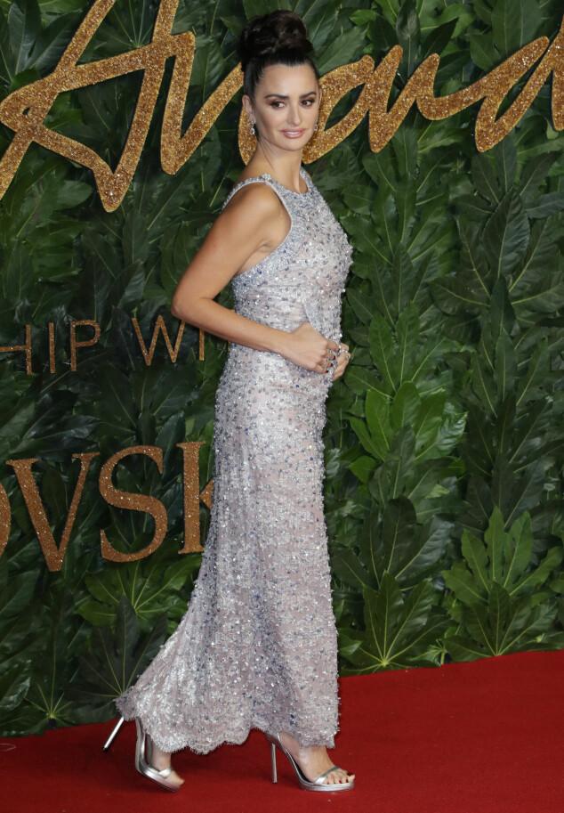 BRITISH FASHION AWARDS: Penelope Cruz. Foto: NTB Scanpix