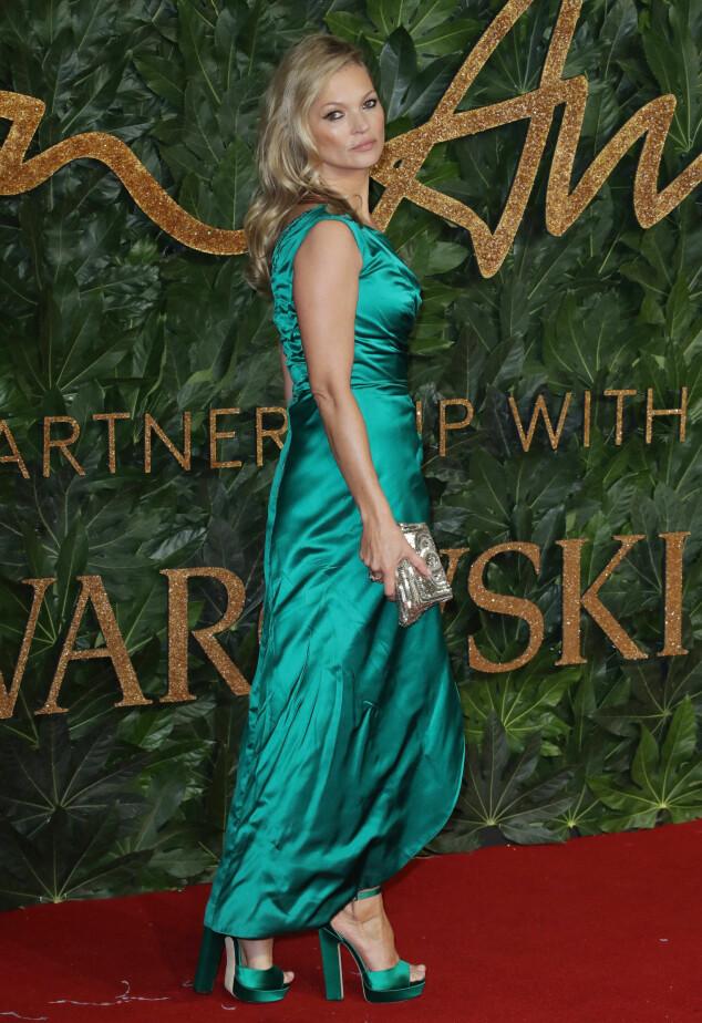 BRITISH FASHION AWARDS: Kate Moss. Foto: NTB Scanpix