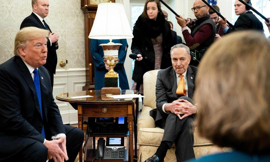 image: Trump truer med «shutdown» hvis han ikke får 40 milliarder til grensemuren