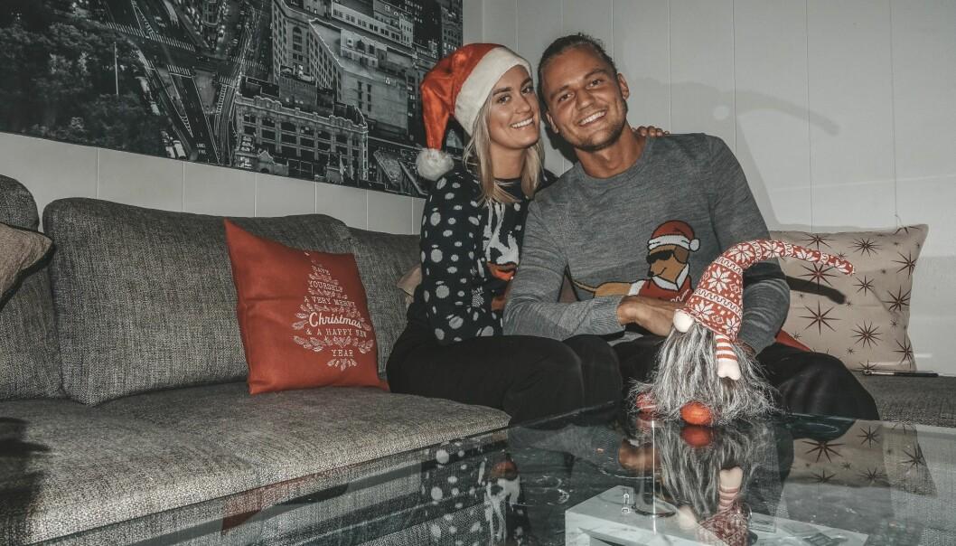 <strong>FØRSTE JUL:</strong> Andrea og Morten går inn i sin første jul som kjærester. På nyåret har de spennende planer. Foto: Privat