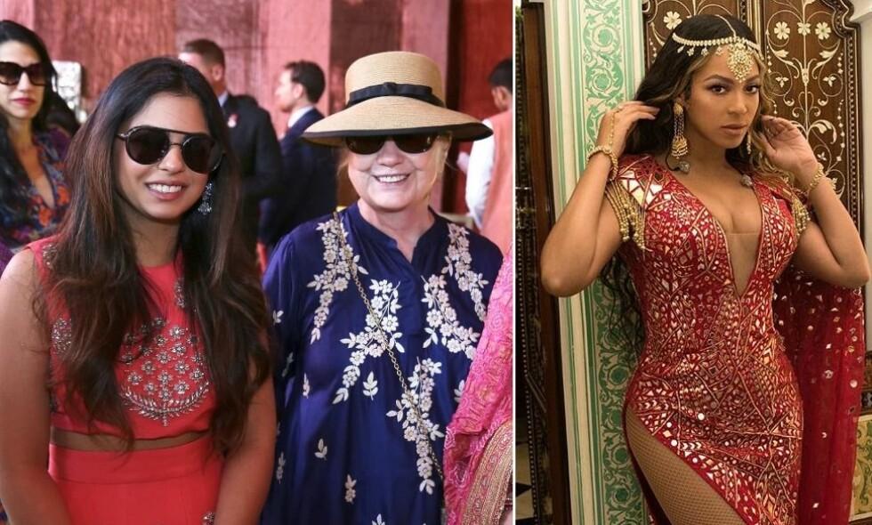EKSTRAVAGANT BRYLLUP: Onsdag gifter Isha Ambani seg, og blant gjestene er blant andre Hillary Clinton. Superstjernen Beyoncé har i forkant av bryllupet stått for underholdningen. Foto: NTB Scanpix / Skjermdump, Instagram