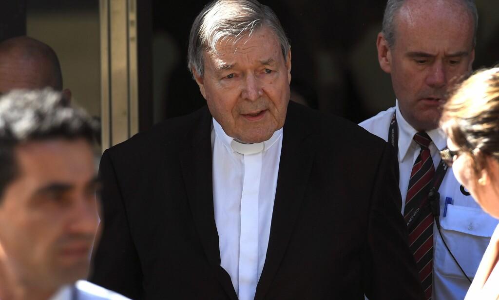 SEKSUELLE OVERGREP: En domstol i Australia bestemte i mai at det forelå nok bevis til å tiltale kardinal George Pell, som er pavens øverste økonomiske rådgiver, for seksuelle overgrep. Nå skal han være dømt. Her er Pell avbildet i Melbourne 11. desember. Foto: William WEST / AFP / NTB Scanpix