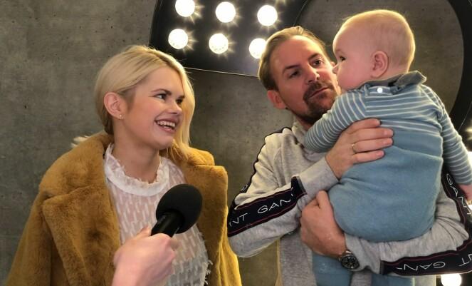 FIN FAMILIE: Julianne og Ulrik hadde med lille Severin da Se og Hør intervjuet dem på lanseringen av den tiende sesongen til «Bloggerne». Foto: Nicolai Aagaard