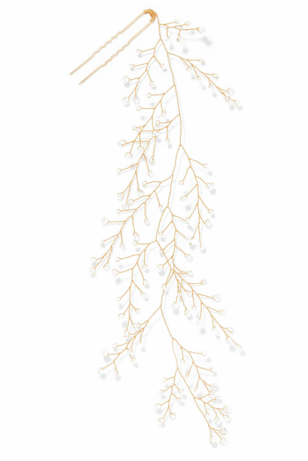 <strong>15 /quatorze |1800,-| https:</strong>//www.net-a-porter.com/no/en/product/1097382/14___quatorze/dewdrop-gold-tone-crystal-hair-pin