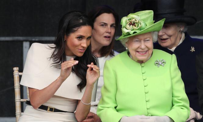 UENIGHET: Dronning Elizabeth skal ikke ha blitt fornøyd da hun hørte at Meghan ønsket å velge sin egen tiara til bryllupet. Foto: NTB Scanpix