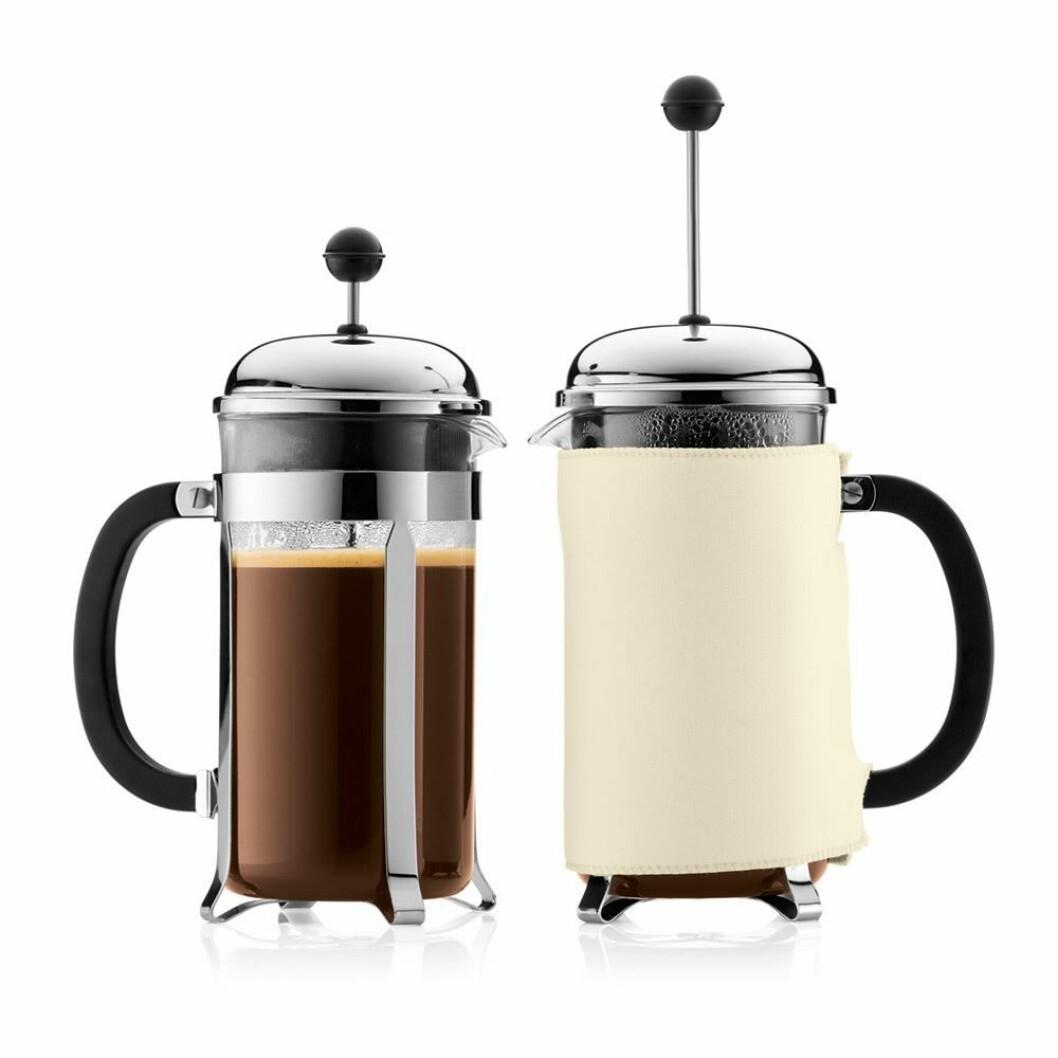 Presskanne fra Bodum |504,-| https://royaldesign.no/chambord-coffee-press-8-cups#/18624