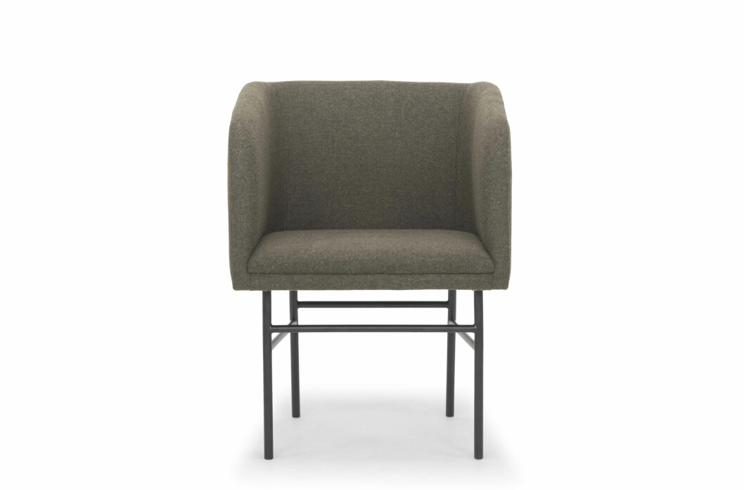 Stol fra Sofa Company |2799,-| https://za.sofacompany.com/furniture/dining-room/dining-chairs/ruby-dining-chair-andie-army-black-metal-legs