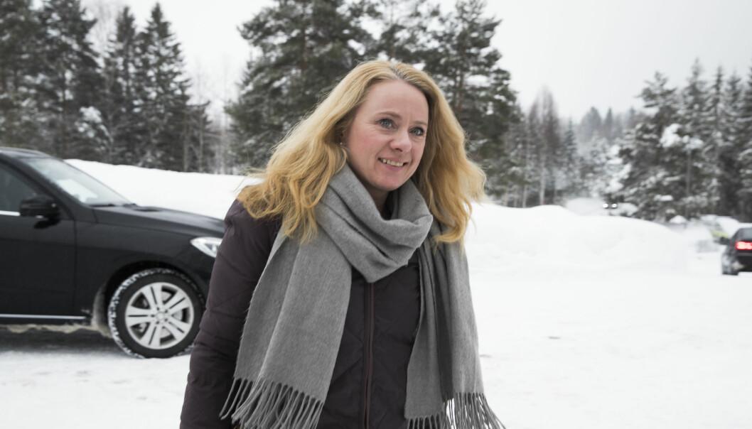 <strong>GLEDER SEG:</strong> Arbeidsminister Anniken Hauglie (H) gleder seg over at antallet på helserelaterte ytelser har gått ned, men møter skepsis hos SV, som viser til at antallet sosialhjelpsmottakere øker. Foto: Berit Roald\NTB Scanpix