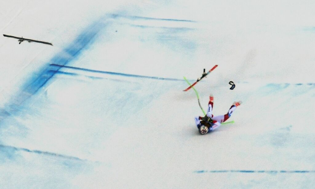 image: Stygt fall avbrøt Aamodt Kildes seiersmarsj