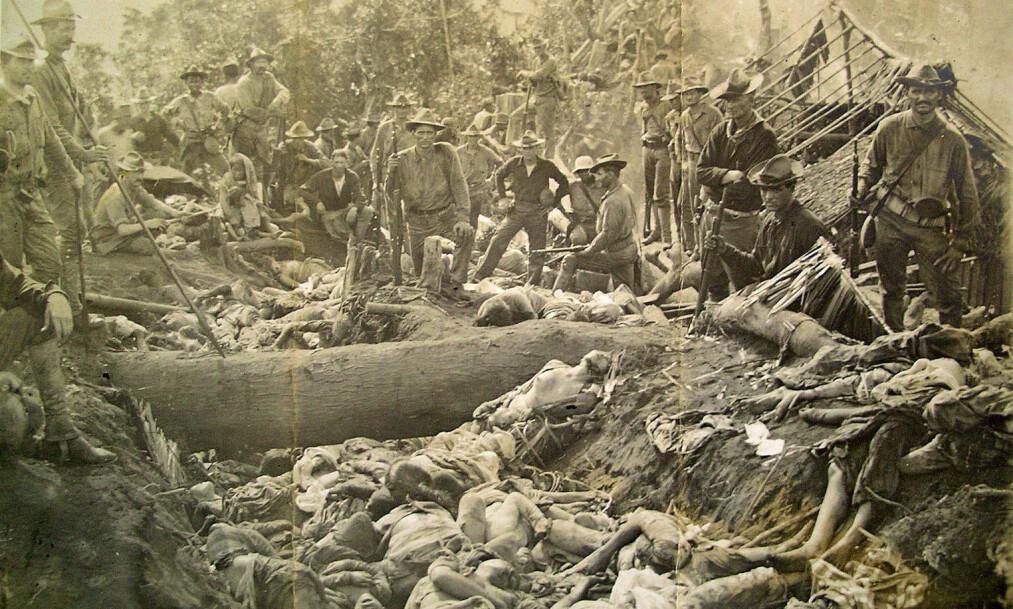 <strong>DØDENS KRATER:</strong> 1000 flyktninger søkte tilflukt i vulkankrateret Bud Dajo. Seks av dem overlevde. De amerikanske tapene var 15 døde. Foto: US Army/Wikimedia Commons