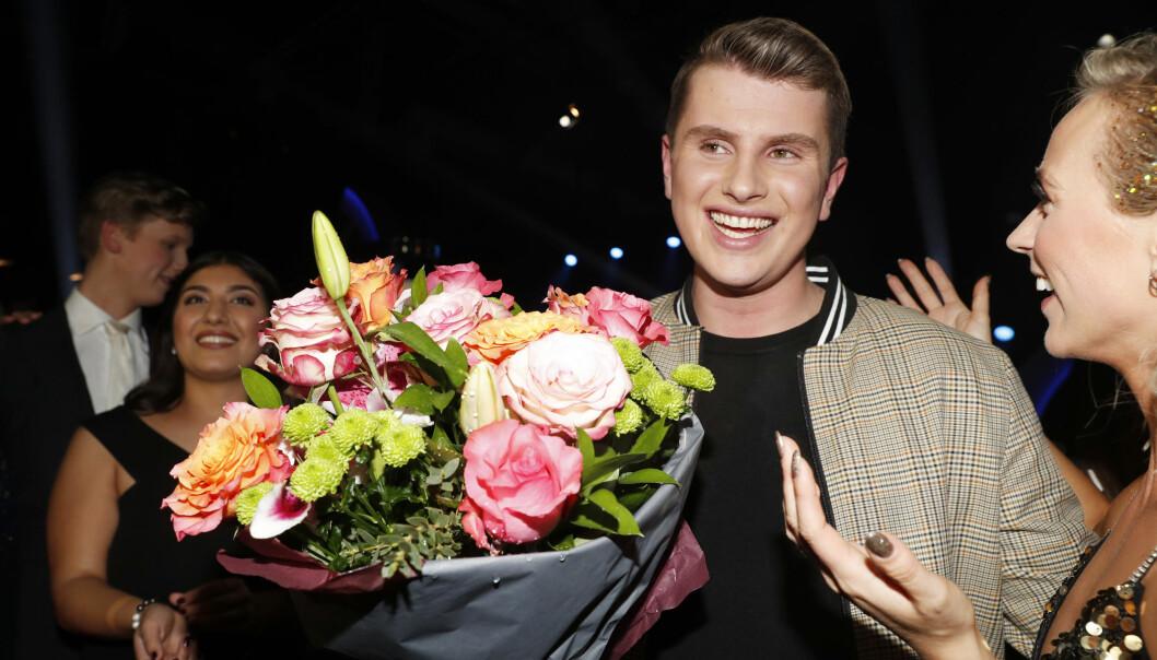 VANT «IDOL»: Det har ikke helt gått opp for Øystein Hegvik at han har vunnet årets «Idol» enda. Foto: NTB Scanpix