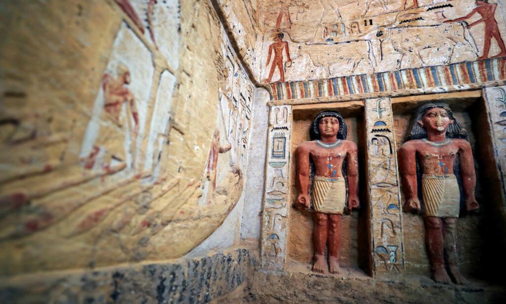 I GOD STAND: Graven er over 4400 år gammel, men er fremdeles i eksepsjonelt god stand. Foto: Reuters / NTB scanpix
