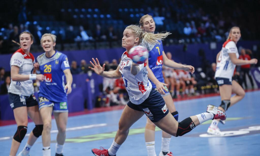 POSITIV: Marit Røsberg Jacobsen scoret på alle sine ti siste skudd i EM - og avsluttet mesterskapet postivt, i likhet med resten av laget. Foto: Vidar Ruud / NTB scanpix