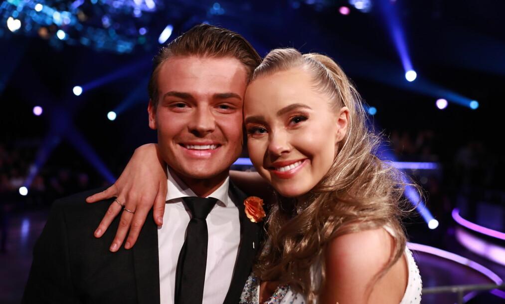 DANSET SAMMEN: I høst var Aleksander Sæterstøl (22) og kjæresten Martine Lunde (22) å se som konkurrenter i «Skal vi danse» på TV 2. Foto: NTB Scanpix