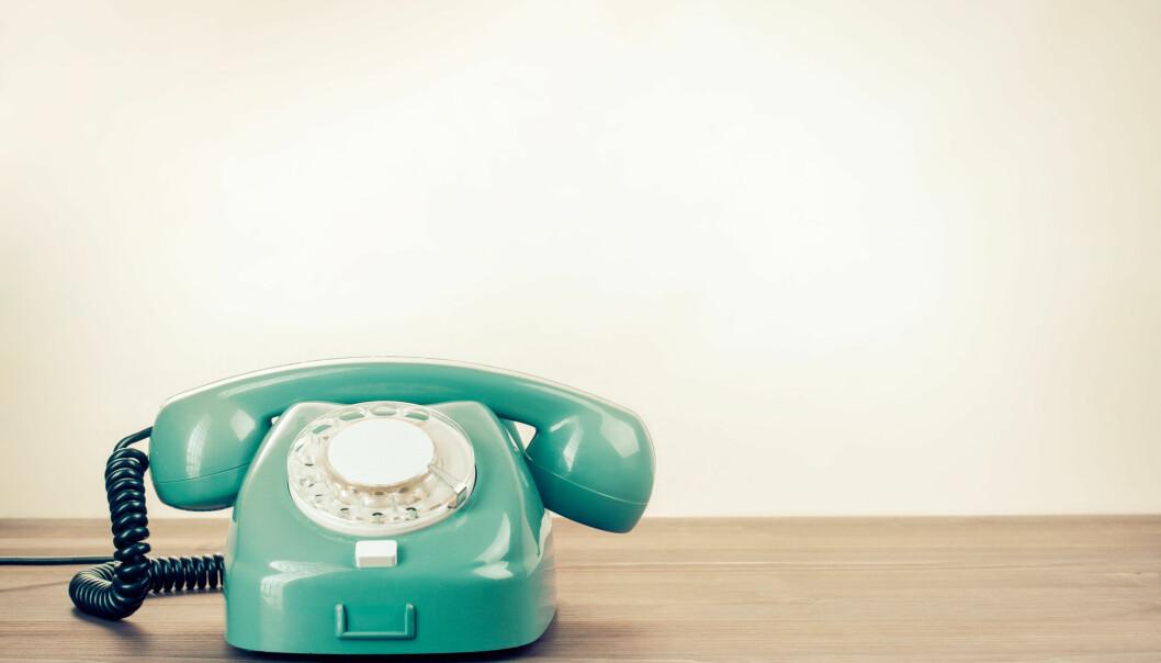 GAMMELDAGS: Teknologien er gammeldags, mens uttrykkene fortsatt står sterkt. Foto: Shutterstock