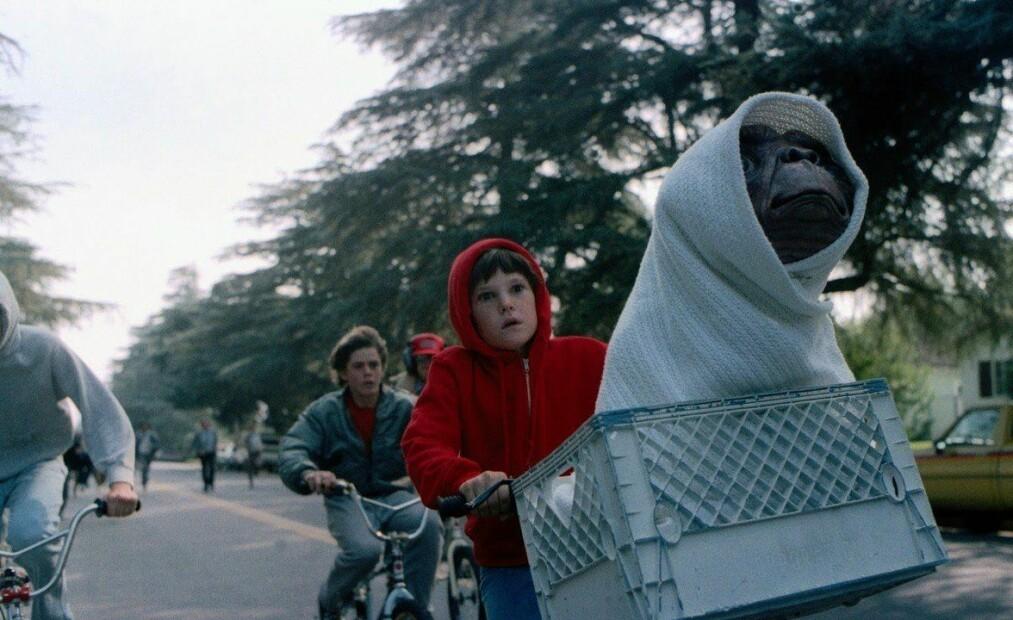 SLO REKORDER: I 1982 var filmen om romvesenet E. T. den mest aller populære. FOTO: Skjermdump
