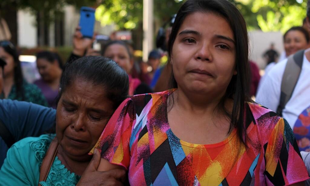 LETTELSENS ANSIKT: Imelda Cortez ble mandag frikjent etter å ha stått tiltalt for drapsforsøk på sitt eget barn. Foto: MARVIN RECINOS / AFP