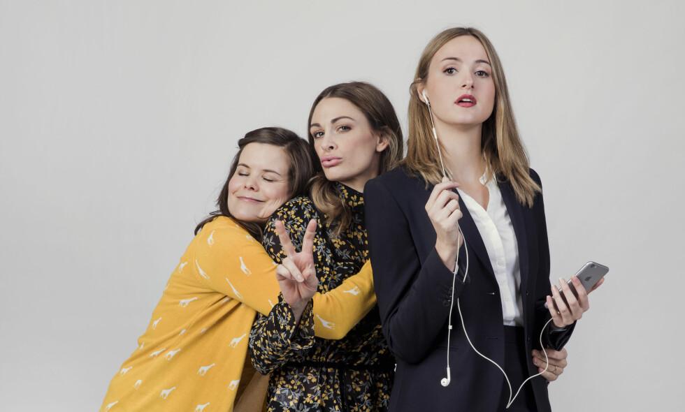 FLOPPET: Kjersti Tveterås, Jenny Skavlan og Renate Reinsve spilte hovedrollene i NRKs komiflopp, «Nesten voksen». Foto: NRK