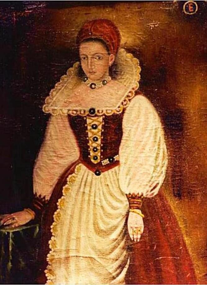 BLEK MEN FATTET? Det originale portrettet av grevinne Elizabeth Báthory fra 1585 er gått tapt. Dette er en kopi. Elisabeth var 25 da originalportrettet ble malt. Kunstner ukjent. FOTO: Wikimedia Commons/skjermdump