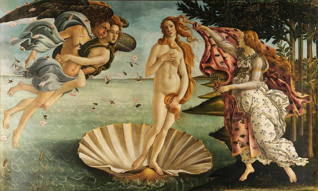 <strong>FARLIG MESTERVERK:</strong> Sandro Botticellis maleri «Venus' fødsel» fra 1486 har ifølge direktør Eike Schmidt ved Uffizi-galleriet forsårsaket uforklarlige medisinske problemer for en rekke museumsgjester.