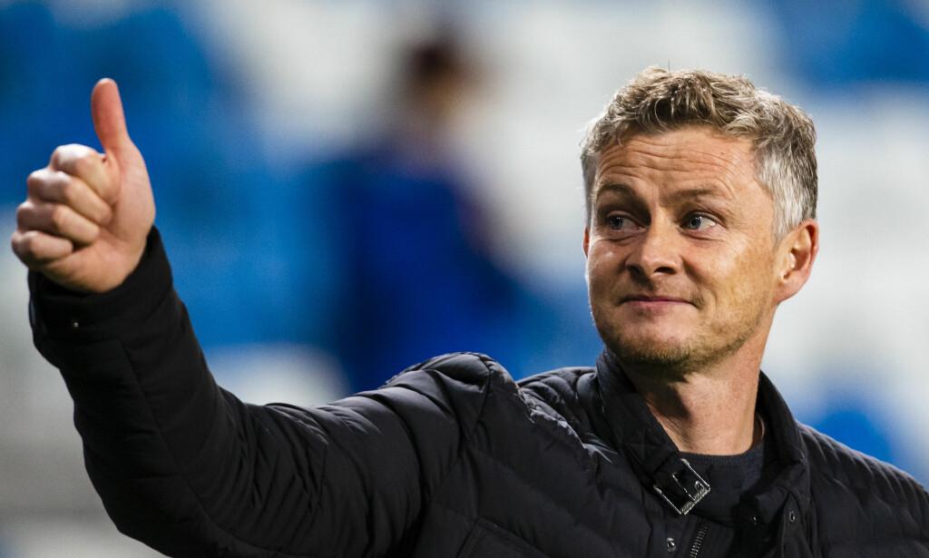 TOMMEL OPP: Ole Gunnar Solskjær er bekreftet som Manchester Uniteds nye manager. Foto: NTB scanpix / Ekornesvåg, Svein Ove