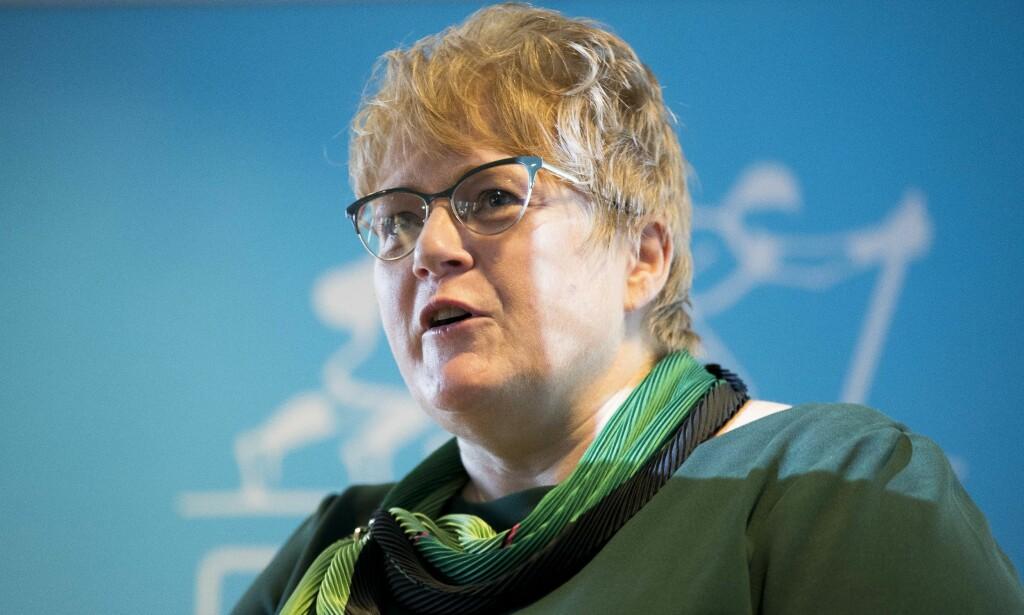 Sliter: Kulturminister og Venstre-leder Trine Skei Grande. Foto: Terje Pedersen / NTB scanpix