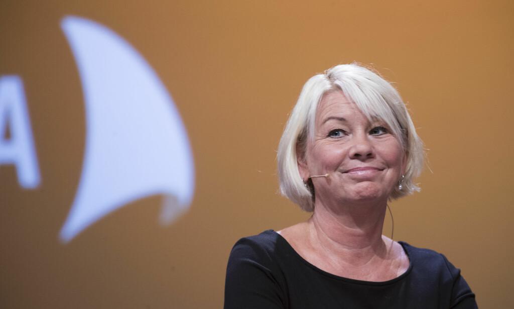Konfronterende: Monica Mæland. Foto: Terje Pedersen / NTB scanpix