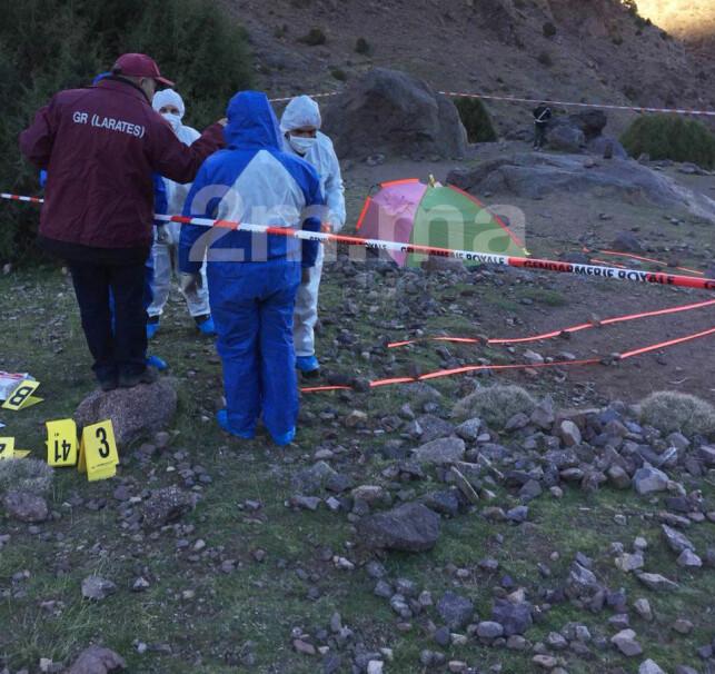 KRIMTEKNISK: Politiet foretar kriminaltekniske undersøkelser på funnstedet. Foto: med tilltalelse fra 2m.ma