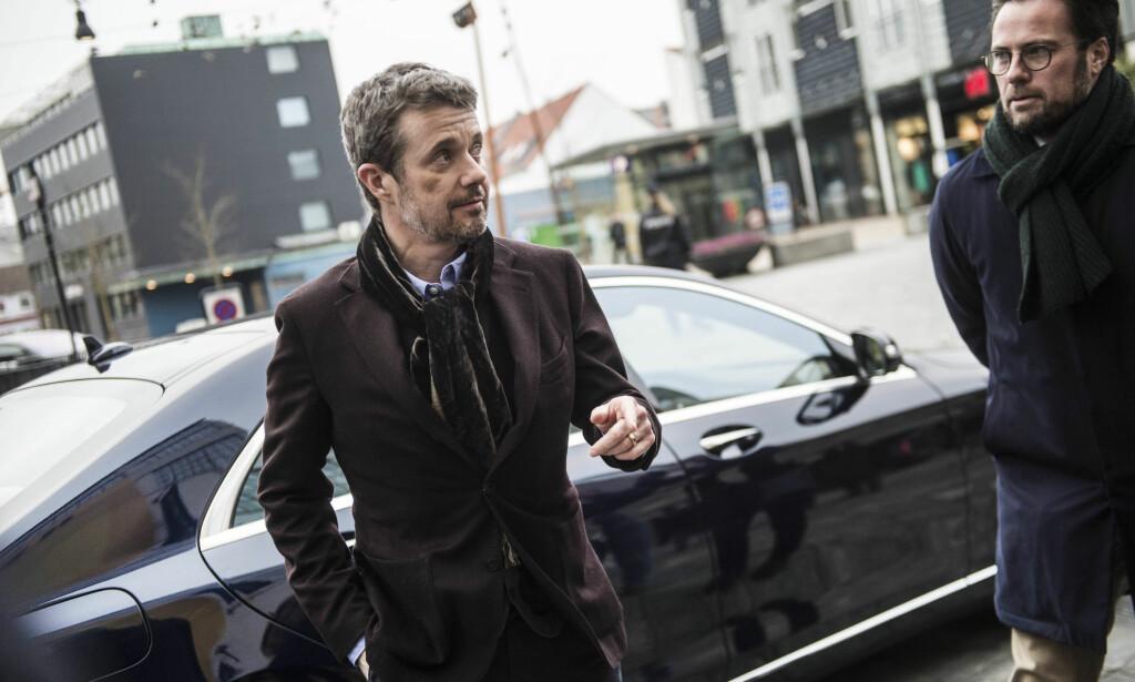 SLO SEG: Kronprins Frederiks blåmerke ble en snakkis i Danmark. Foto: NTB Scanpix