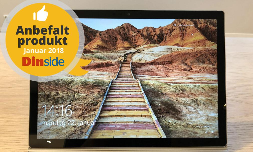 EN AV VINNERNE: Microsoft Surface Book II vinner i klassen for hybrid-PC-er. Foto: Bjørn Eirik Loftås