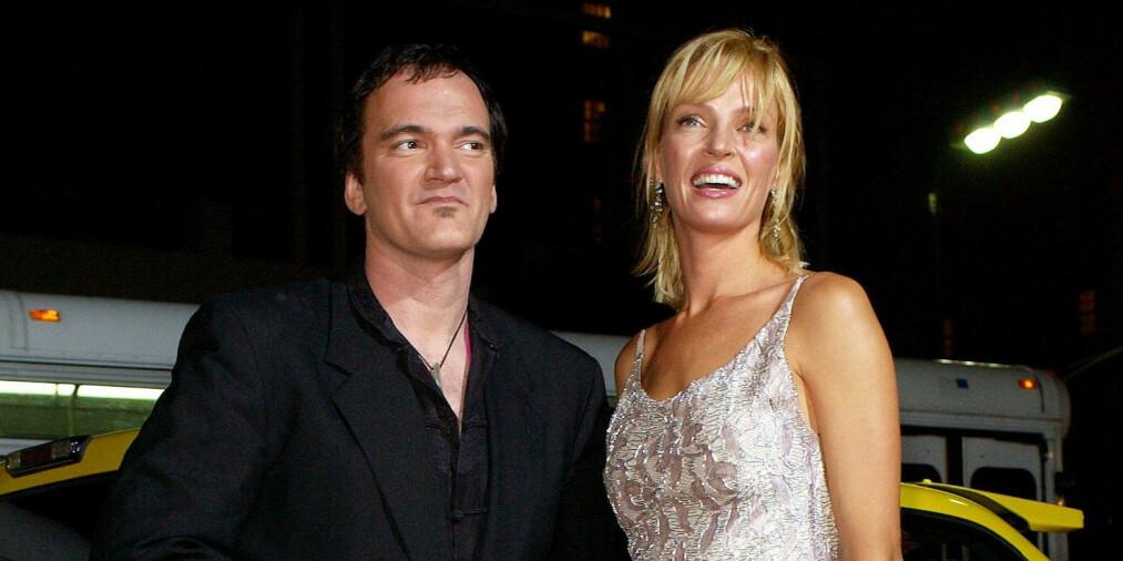 INNBRUDD: Stjerneregissør Quentin Tarantino (55) ble natt til mandag utsatt for innbrudd i hjemmet sitt. Her med «Kill Bill»-stjernen Uma Thurman i 2003. Foto: NTB Scanpix